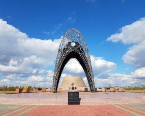 De memorial boog van Alzhir.